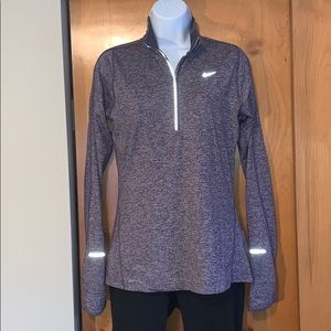 Nike dri-fit L/S space dye 1/2 zip running top